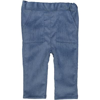 Pantalon bébé garçon en velours bleu jean