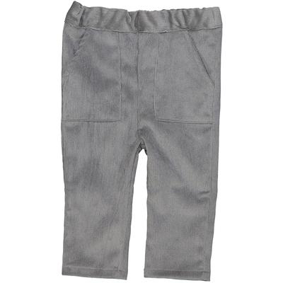 Pantalon bébé garçon en velours gris ardoise