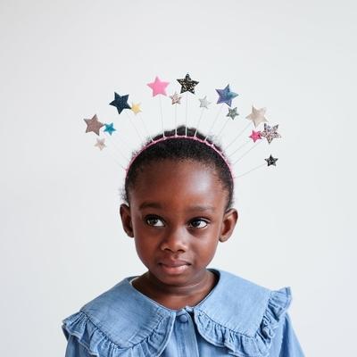 Serre-tête girly grandes étoiles multicolores