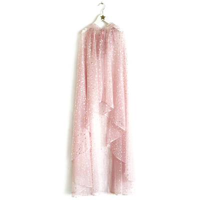 Longue cape de fée rose