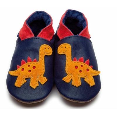 Chaussons enfant en cuir marine dinosaure