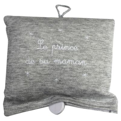 """Boite à musique """"Le prince de sa maman"""" grise"""