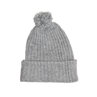 Bonnet en laine gris à paillettes