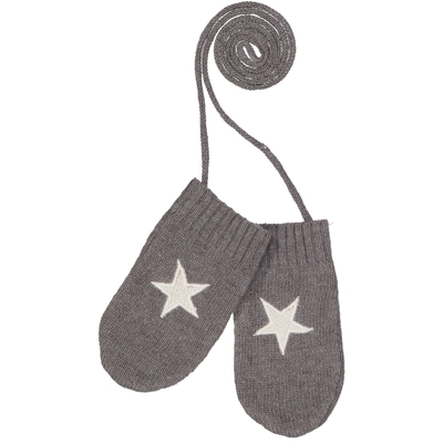 Moufles bébé grises avec étoile