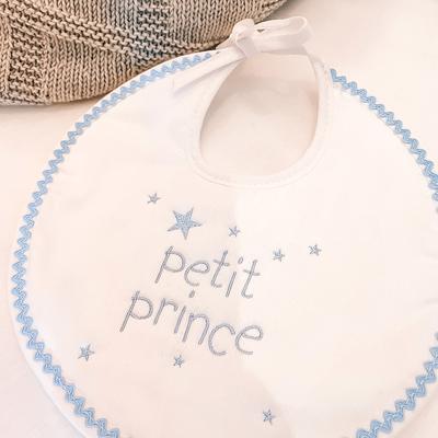 "Bavoir blanc ""Petit prince"""