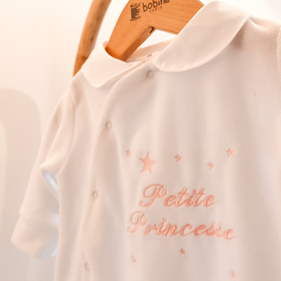 "Pyjama blanc ""Petite princesse"""