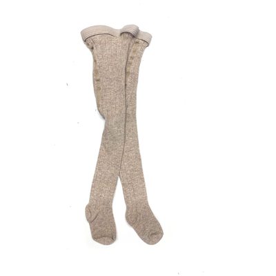 Collants en coton Beige