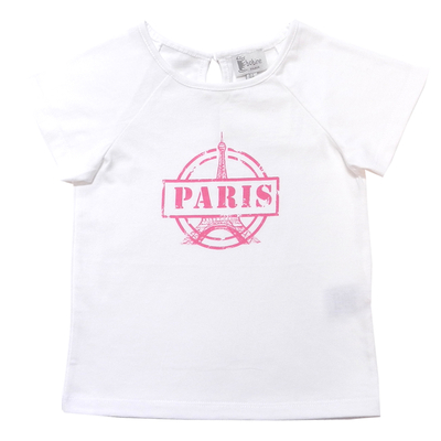 T-shirt Blanc - Paris Rose