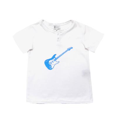 T-shirt Blanc - Guitare