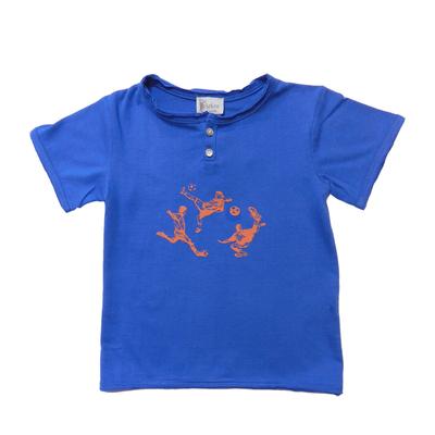 T-shirt foot - Bleu<br>Existe uniquement en 10 ans<br>