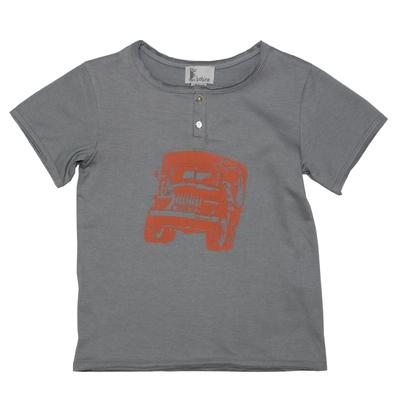 T-shirt gris - Camion