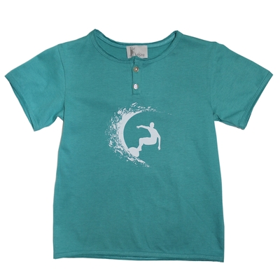 T-shirt manches courtes Lagon Surf Blanc<br>Existe uniquement en 2 ans<br>