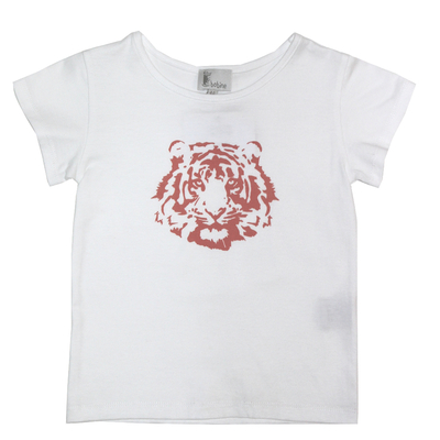 T-shirt Blanc - Tigre Orange