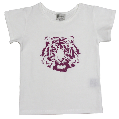 T-shirt blanc - Tigre Violet