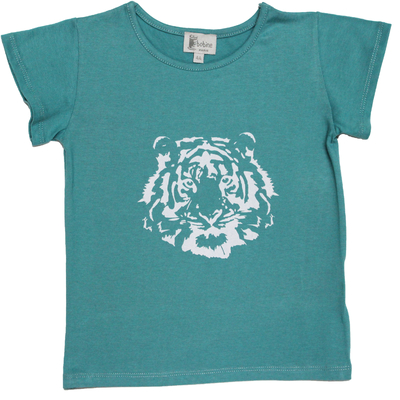 T-shirt Pia manches courtes Lagon <br>Tigre Blanc
