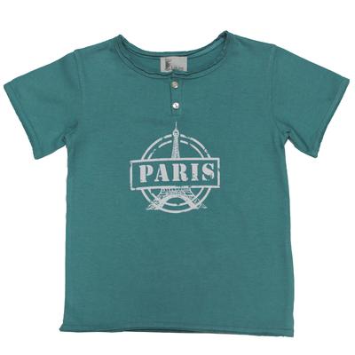 T-Shirt Tunisien Paris - Turquoise