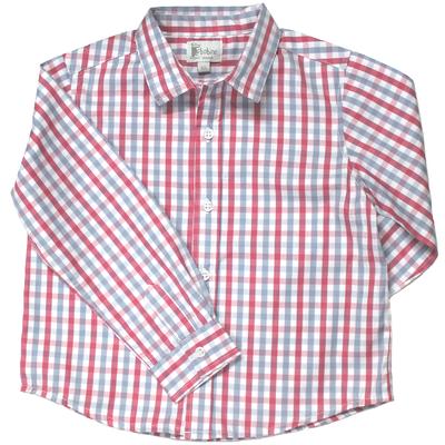 Chemise - Carreaux Gris et Rouge