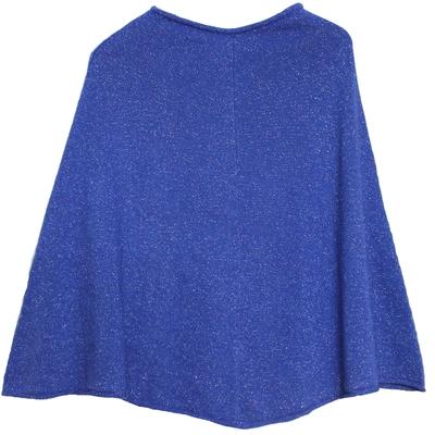 Poncho Femme - Bleu à paillettes