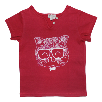 T-shirt Chat - Rouge