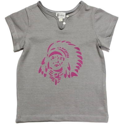 T-shirt gris - Indien