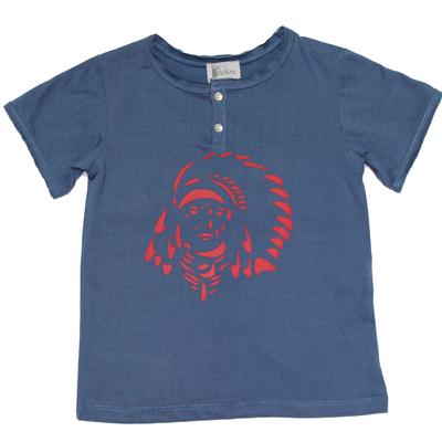 T-Shirt Tunisien Country Blue Indien<br>Existe uniquement en 2 ans<br>