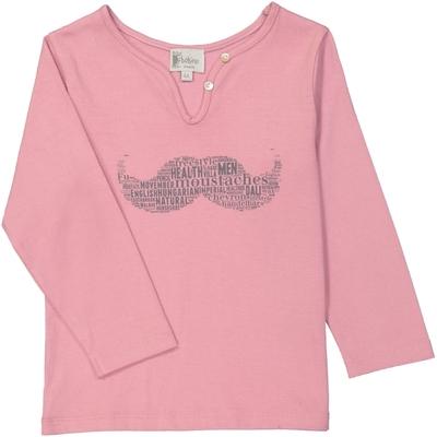 T-Shirt fille moustache blush