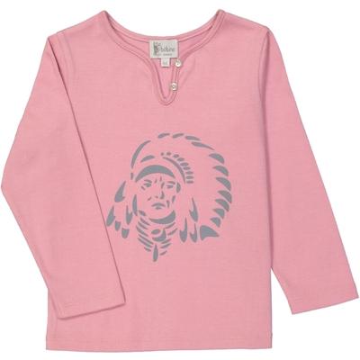T-Shirt fille rose sérigraphié