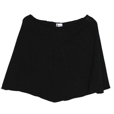 Poncho Femme Court - Pailleté Noir