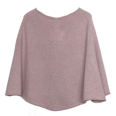Poncho fille - Rose