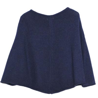 Poncho fille - Bleu nuit