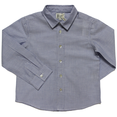 Chemise - Bleu Rayures Blanc