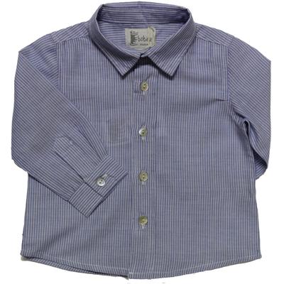 Chemise bébé garçon rayée bleu