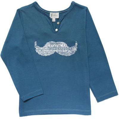 T-Shirt fille bleu saphir