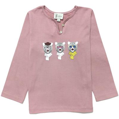 T-Shirt fille blush sérigraphié