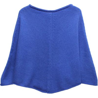 Poncho fille - Bleu France