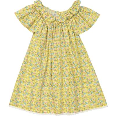 Robe Fille Jaune imprimée fleurs - Kansas