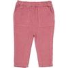 Pantalon Vellours BB Girl - Vieux Rose-1