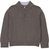 Pull Col contrastant Ciel Zip - Taupe-1