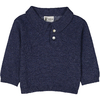 pull coll polo layette bleu d bb_aplat