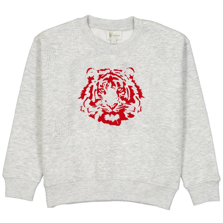 sweat-enfant-garçon-gris-lion