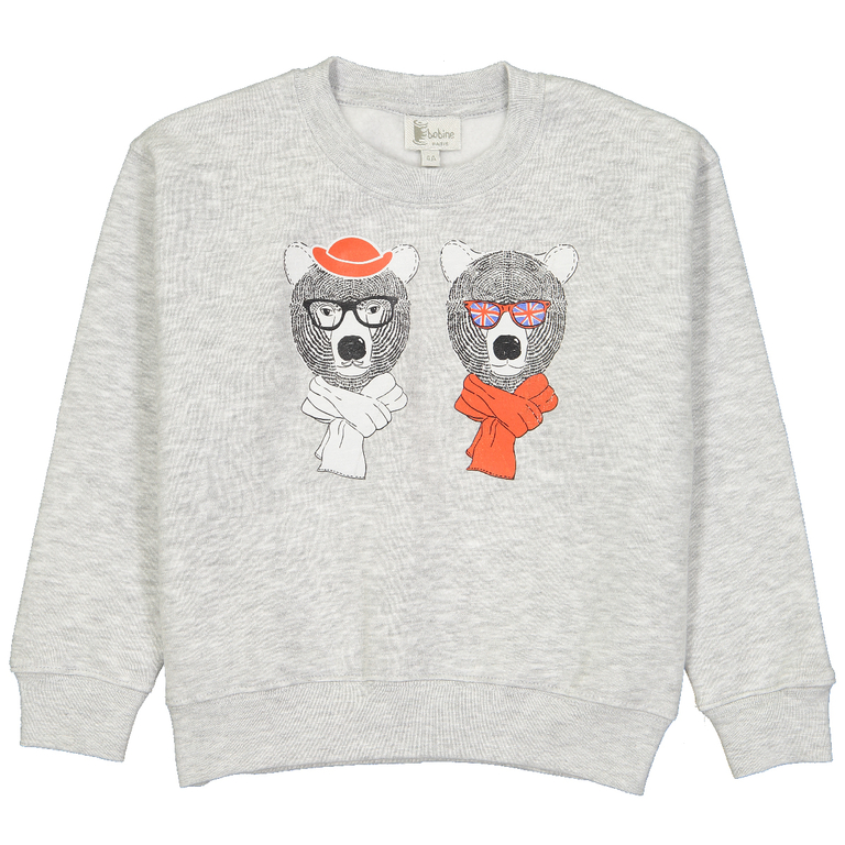 sweat-enfant-garçon-gris-ours
