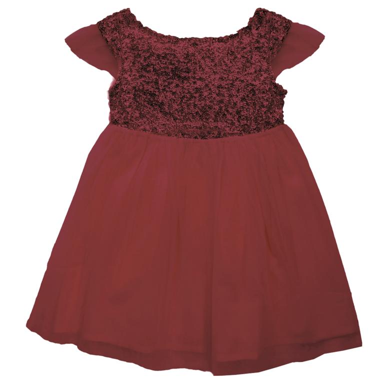 Les petits Inclassables - Stella-robe-bordeaux-Packshot