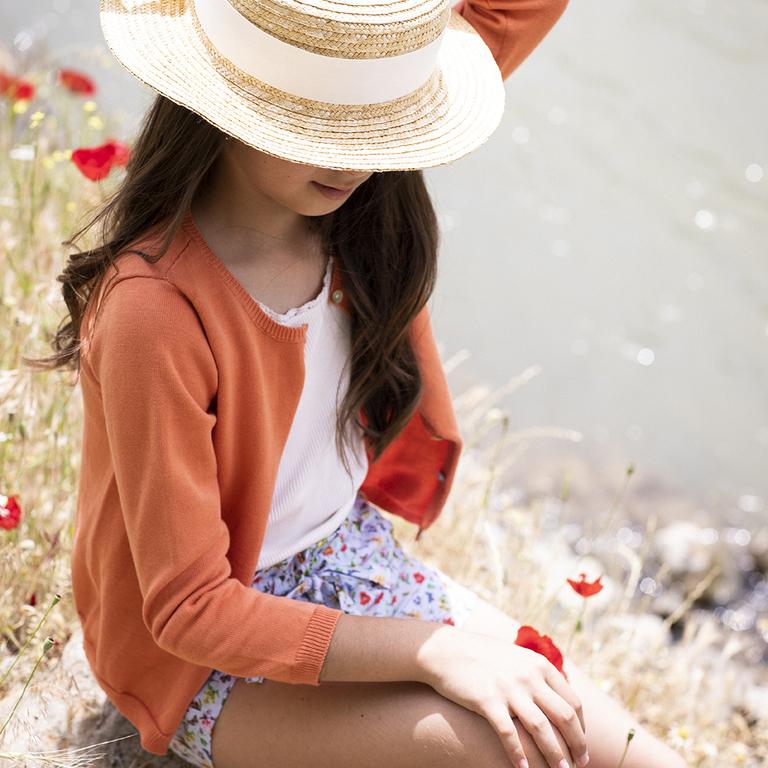 cardigan-fille-été-orange-2