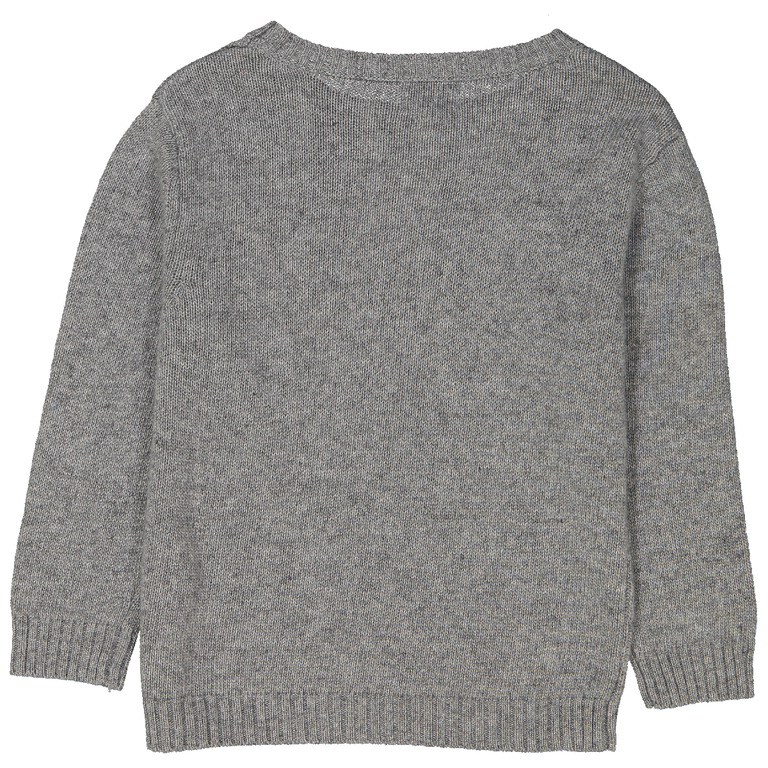 pull-garçon-damier-gris-moucheté-dos