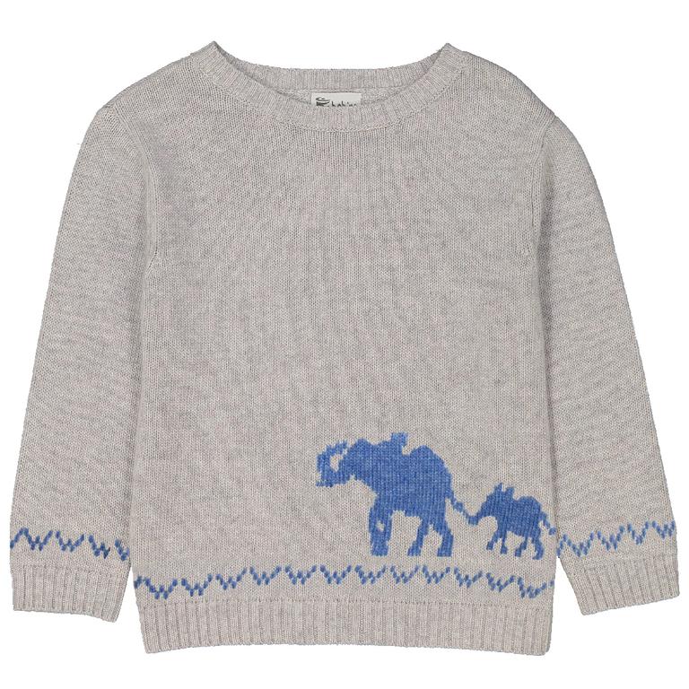 pull-garçon-éléphant-perle-moucheté