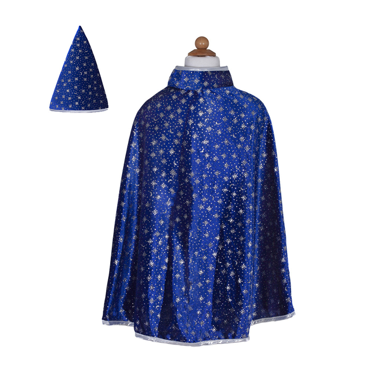 Glitter Wizard set cape and hat image 1