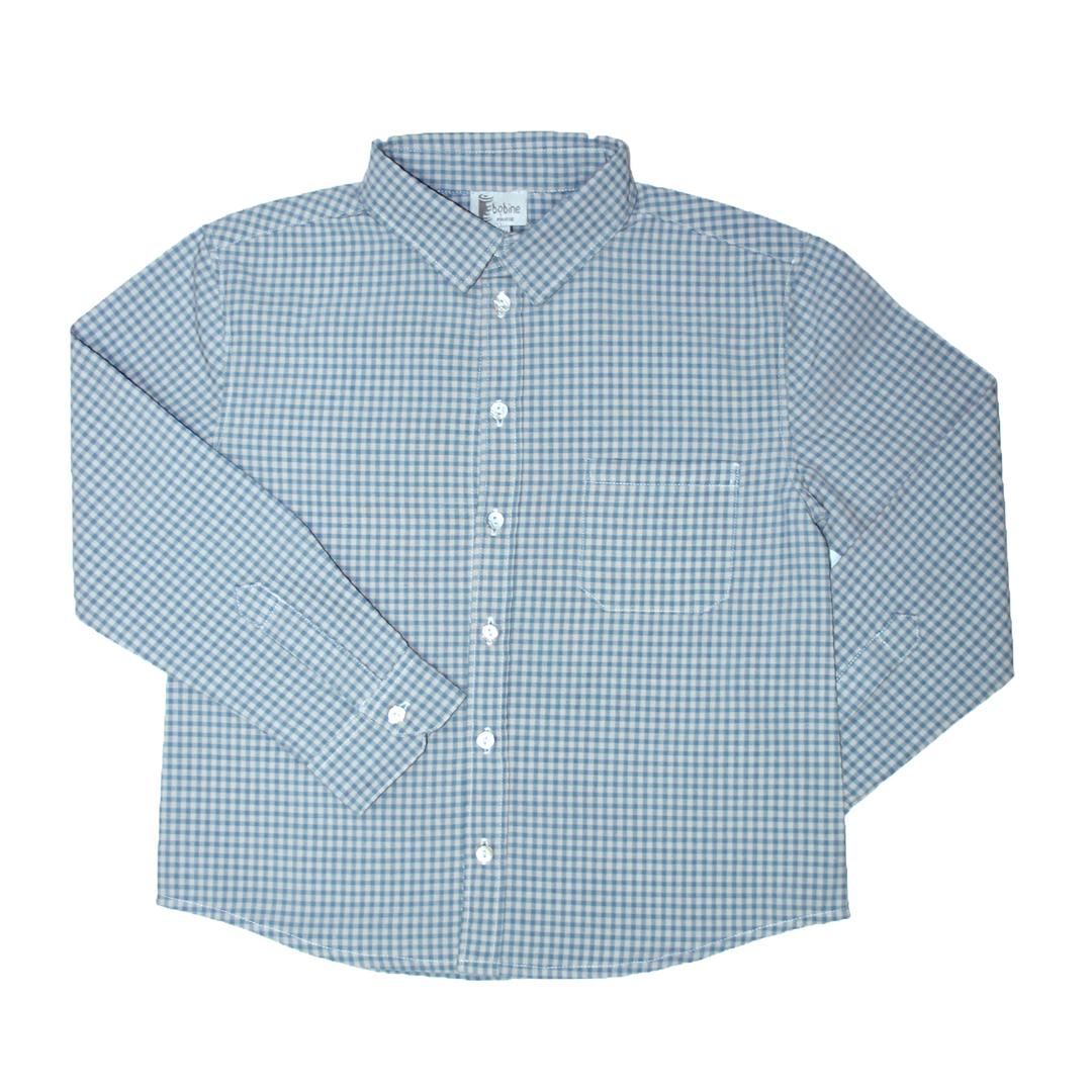 chemise-garçon-carreaux-ecrubleu