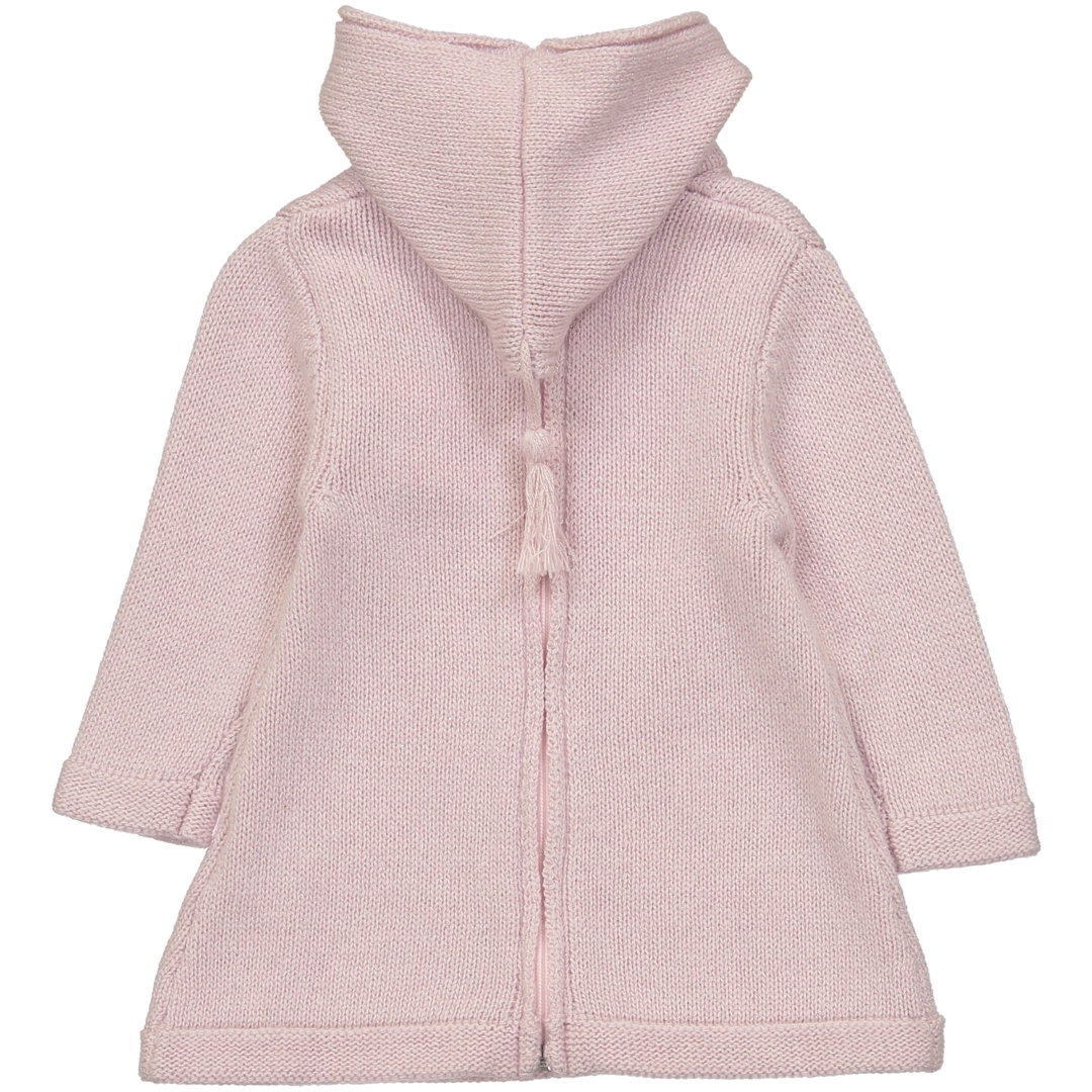 Burnous Zip - Paillete Rose-2