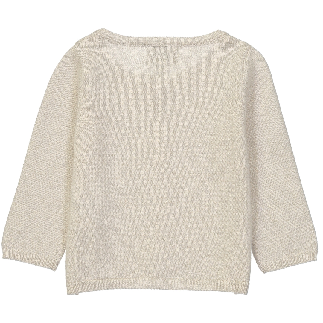 Cardigan BB - Paillete Blanc-2
