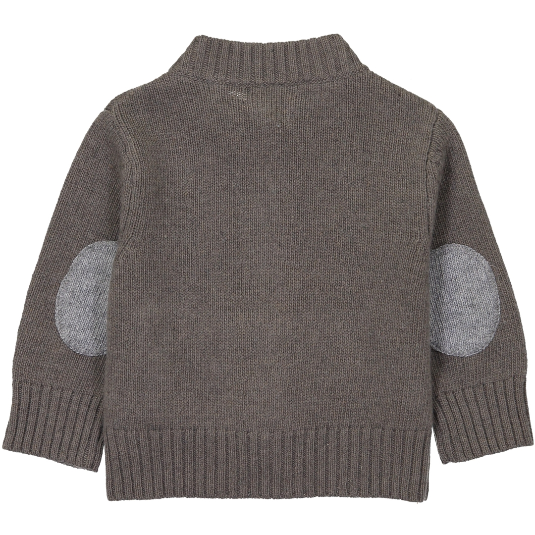 Gilet BB Col montant - Taupe-2